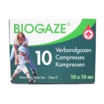 Biogaze Verbandgazen -  10st 10x10