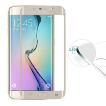 Samsung S6 Edge Screenprotector Tempered Glass Gold