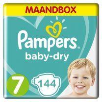 Pampers Baby Dry Maat 7 - 144 Luiers Maandbox