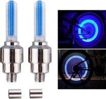 Fiets Ventiel Verlichting  Blauw 2 x