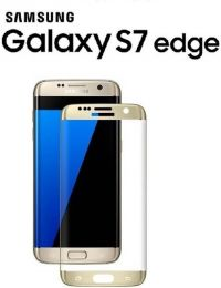 Samsung S7 Edge Screenprotector Tempered Glass Gold