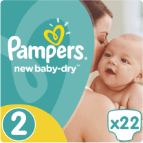 Pampers New Baby Dry Maat 2 - 22 Luiers