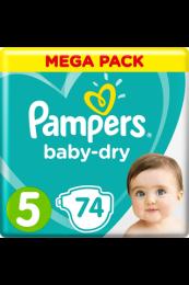 Pampers Baby Dry Maat 5 - 74 Luiers