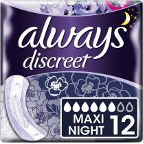 Always Discreet Maandverband Night