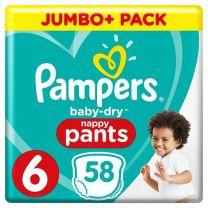 Pampers Baby Dry Pants Maat 6 - 58 Luierbroekjes