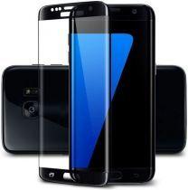 Samsung S7 Edge Screenprotector Tempered Glass Black