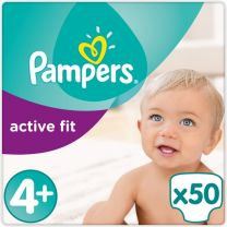 Pampers Active Fit Maat 4+ - 50 Luiers