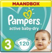 Pampers Active Baby Dry Maat 3 - 120 Luiers Maandbox