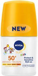 Nivea Sun Sun Kids Protect & Sensitive Roller SPF50 Zonnebrand - 50 ml