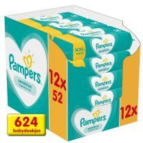Pampers Sensitive Billendoekje 12 x 52 stuks Voordeelverpakking