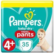 Pampers Baby Dry Pants Maat 4+ - 35 Luierbroekjes