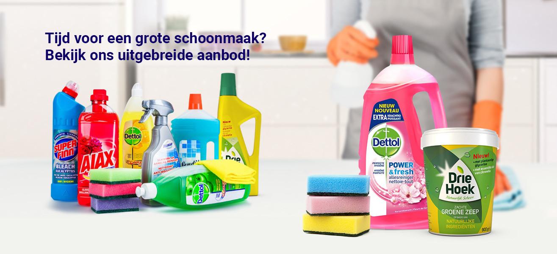aanbiedingen schoonmaakmiddelen